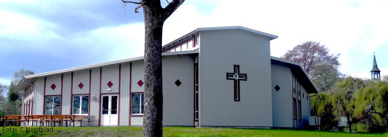 Bild på Församlingsgården i Äspered, Samarbetskyrkans huvdsakliga samlingslokal. Fotograf: Caroline Nordblad